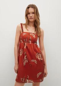 Czerwona sukienka Mango z dekoltem w kształcie litery v mini trapezowa