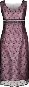Sukienka Fokus z tkaniny z dekoltem w kształcie litery v midi
