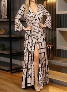 Sukienka Cikelly kopertowa z dekoltem w kształcie litery v