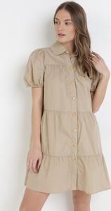 Sukienka born2be mini w stylu casual z okrągłym dekoltem