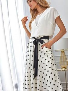 Spódnica POTIS & VERSO z tkaniny