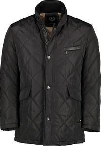 Czarna kurtka Lavard z tkaniny krótka