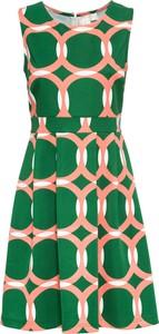 Sukienka bonprix BODYFLIRT boutique z okrągłym dekoltem rozkloszowana