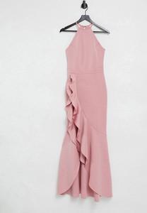 Sukienka Lipsy z dekoltem halter bez rękawów maxi
