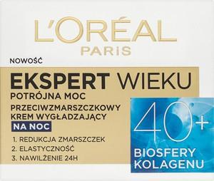 L'Oreal Paris L'Oreal Paris, Ekspert Wieku 40+, przeciwzmarszczkowy krem wygładzający na noc, 50 ml