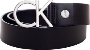 Czarny pasek Calvin Klein ze skóry