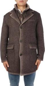 Brązowy płaszcz męski Gimo`s w stylu casual