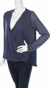 Bluzka Olivia Moon z dekoltem w kształcie litery v z długim rękawem w młodzieżowym stylu