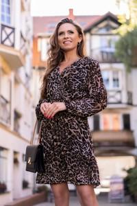 Sukienka MERRIBEL mini dla puszystych w stylu casual