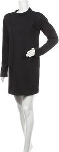 Czarna sukienka Missguided z długim rękawem mini w stylu casual