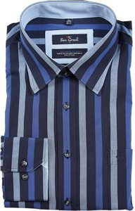 Niebieska koszula Ben Green z bawełny