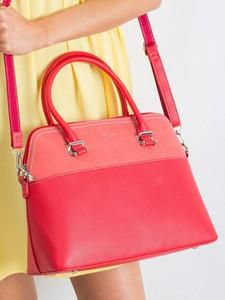 Różowa torebka Sheandher.pl w stylu glamour ze skóry ekologicznej