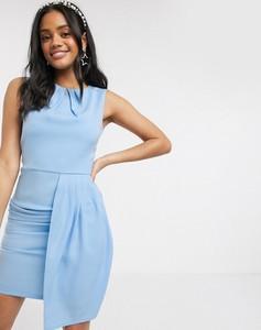 Niebieska sukienka Paper Dolls bez rękawów