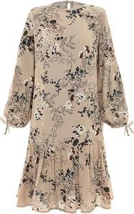 Sukienka Moda Su mini z długim rękawem