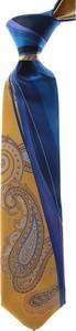 Niebieski krawat Pancaldi