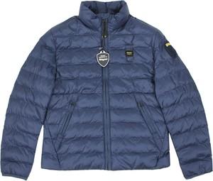Granatowa kurtka dziecięca Blauer Usa dla chłopców z jeansu
