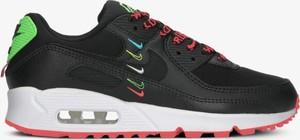 Czarne buty sportowe Nike ze skóry sznurowane z płaską podeszwą