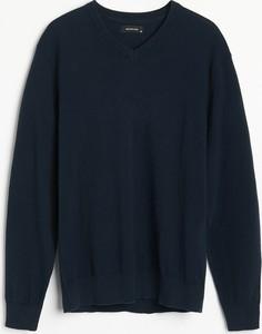 Granatowy sweter Reserved z bawełny w stylu casual