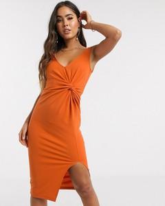 Pomarańczowa sukienka Asos w stylu casual