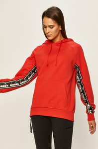 Czerwona bluza Diadora z bawełny krótka