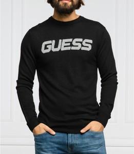 Czarny sweter Guess z wełny