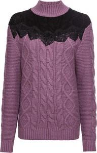Fioletowy sweter bonprix BODYFLIRT w stylu casual