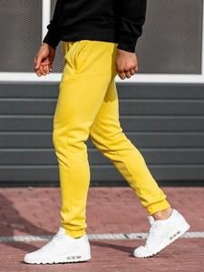 Żółte spodnie sportowe Denley