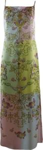 Sukienka Versace Jeans z dekoltem w kształcie litery v maxi na ramiączkach
