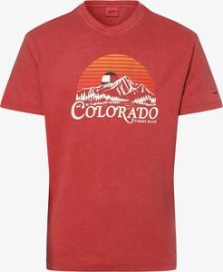 Czerwony t-shirt Tommy Jeans z bawełny
