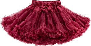 Czerwona spódniczka dziewczęca Elefunt z tiulu