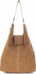 Torebki skórzane typu shopperbag firmy vittoria gotti rude