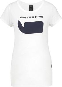T-shirt G-Star Raw w młodzieżowym stylu z okrągłym dekoltem