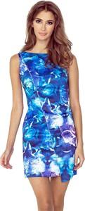 Niebieska sukienka MORIMIA w street stylu z okrągłym dekoltem bez rękawów