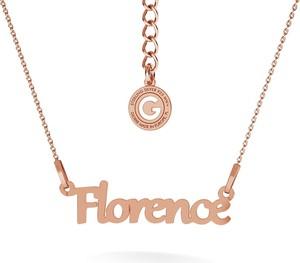 GIORRE SREBRNY NASZYJNIK CELEBRYTKA Z IMIENIEM 925 : Kolor pokrycia srebra - Pokrycie Różowym 18K Złotem