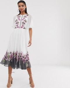 Sukienka Ted Baker z długim rękawem z okrągłym dekoltem