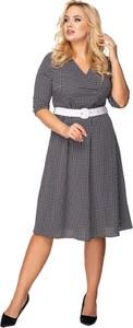 Sukienka Ptakmoda.com z długim rękawem midi kopertowa