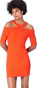 Pomarańczowa sukienka amazon.de w stylu casual mini