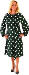 Sukienka Roxana - sukienki midi z długim rękawem