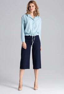 Błękitna bluzka Figl z długim rękawem