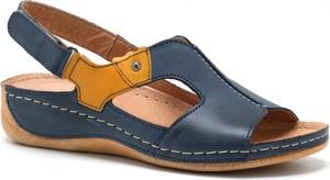 Granatowe sandały Pollonus w stylu casual