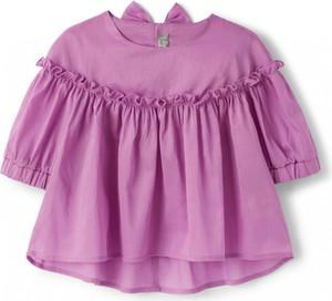 Fioletowa bluzka dziecięca Il Gufo z długim rękawem