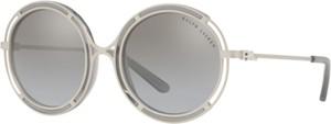 Srebrne okulary damskie Ralph Lauren