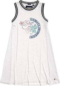 Sukienka Superdry z okrągłym dekoltem w sportowym stylu