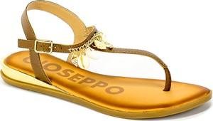 Brązowe sandały GIOSEPPO z klamrami ze skóry