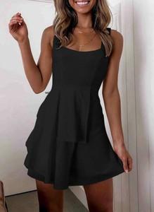 Czarna sukienka Cikelly mini na ramiączkach