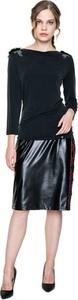 Czarna bluzka POTIS & VERSO z długim rękawem