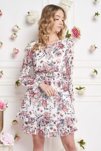 Sukienka Ella Boutique mini z okrągłym dekoltem