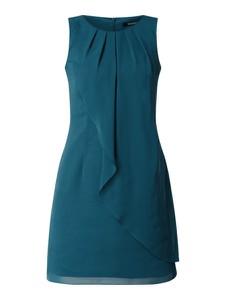 Niebieska sukienka Swing z szyfonu bez rękawów mini