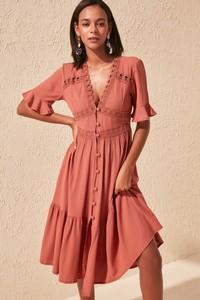 Różowa sukienka Trendyol w stylu casual