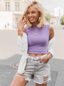 Fioletowa bluzka SELFIEROOM w młodzieżowym stylu